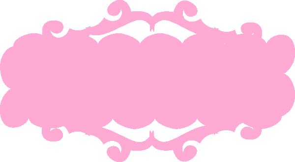 Decorative Pink Border Clip Art Pink Banner Clip Art a...
