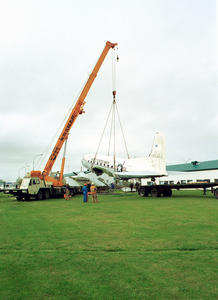 Navy C-117 Gooneybird Is Dismantled For Future Museum Display. Image