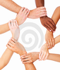 Diverse Hands Linked In Unity Thumb Image