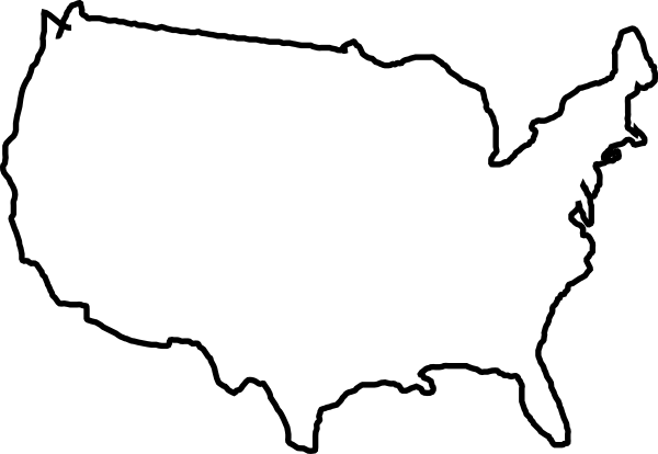 Line Drawing United States : White map usa clip art at clker vector