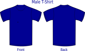 Blue Front And Back Tshirt Clip Art