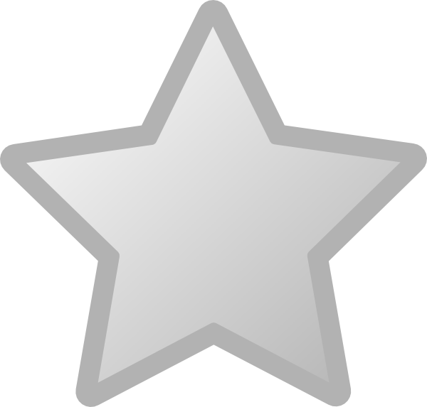 Star Grey Clip Art at ...