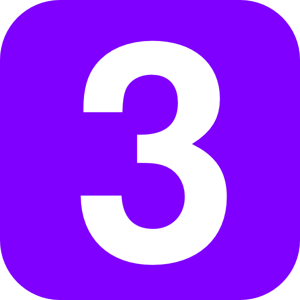 Number 3 Violet Clip Art At Clker Com