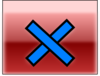Red Close Button Hover Clip Art