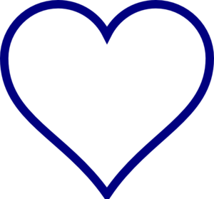 Blue Line Heart Outline Clip Art at Clker.com - vector ...