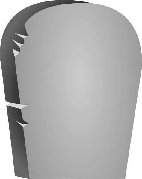 Stone Tablet Clip Art : Rounded tombstone clip art at clker vector