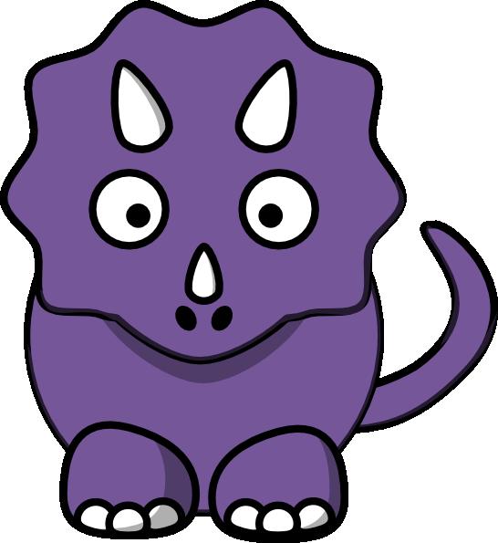 Purple Baby Dinosaur Clip Art At Clker Com Vector Clip