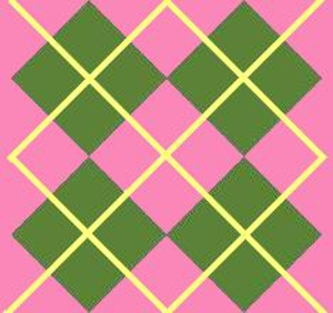 Argyle Awesome Green Pink Image