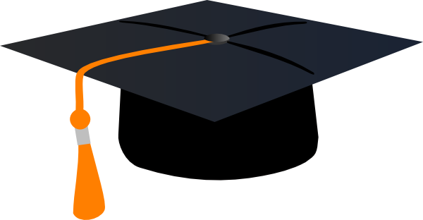 graduation hat with orange tassle clip art at clker com graduation 2018 clipart graphics graduation 2018 clipart graphics