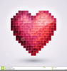 Pink Love Heart Clipart Image