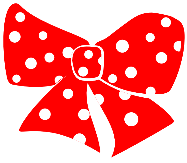 bow with polka dots clip art at clker com