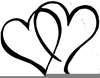 Wedding Hearts Clipart Image