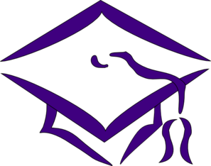 Purple Mortarboard clip art