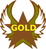 Gold  Star With Wings Clip Art