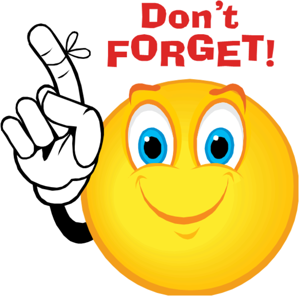 Image result for clipart don't forget