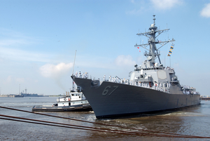 Uss Cole Gets Underway After Completing Repairs. Image