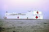 Military Sealift Command Hospital Ship Usns Comfort (t-ah 20), Steams Toward Her First Port-of-call At Naval Station Rota Image