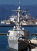 Uss Laboon (ddg 58) Arrives In Souda Bay For A Brief Port Visit. Clip Art