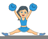 Stick People Cheerleaders Clipart Image