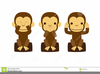 Three Monkey Clipart Image