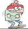 Woman Freezing Clipart Image