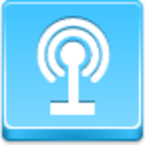 Free Blue Button Icons Podcast Image