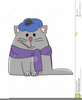 Free Clipart Sick Cat Image