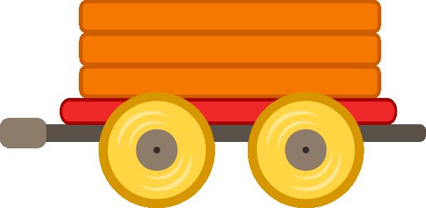 Train Car Orange Clip Art At Clker Com Vector Clip Art