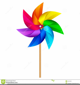 Windmills Clipart Image