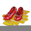 Ruby Slippers Clipart Image