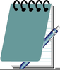 Spiral Notepad Clipart Image