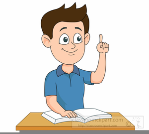 Student Raising Hand Clipart | Free Images at Clker.com ...