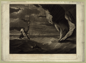 The Perilous Situation Of Major Mony [i.e. Money], When He Fell Into The Sea With His Balloon On The 23rd Of July, 1785, Off The Coast Of Yarmouth ... Image