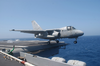 An S-3 Viking Is The Last Aircraft In History To Launch From The Flight Deck Of Uss Constellation (cv 64) Image