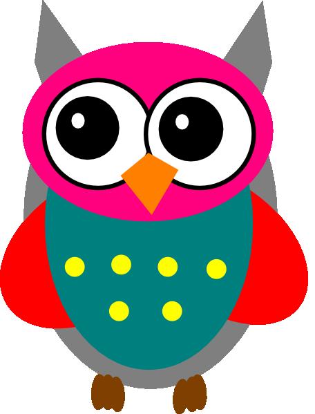 Pink And Grey Owl Clip Art at Clker.com - vector clip art ...