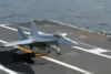 F/a-18e Makes An Arrested Landing Aboard Uss Carl Vinson Clip Art