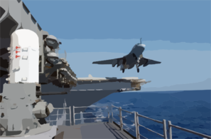 An Ea-6b Prowler Launches From The Flight Deck Aboard Uss Constellation (cv 64) Clip Art