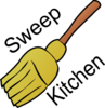 Chore: Sweep Kitchen Clip Art