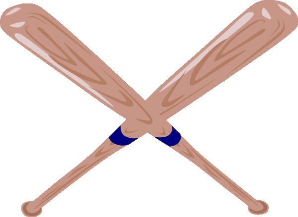 Crossed Baseball Bat Clip Art at Clker.com - vector clip ...