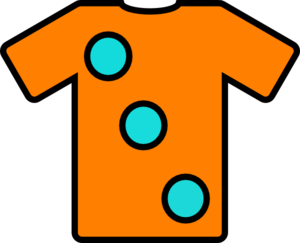 Orange Turquoise Tshirt Clip Art