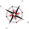 Red Black Compass Clip Art