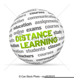 Distance Learning Clipart Image