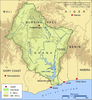 Volta River Map Image