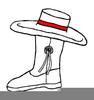 Drill Team Boot Clipart Image