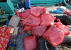 A U.s. Navy Boarding Team Operation From The Guided Missile Destroyer Uss Decatur (ddg 73) Discovered Over 50 Bags Of Hashish, Weighting 70 Pound Each. Image