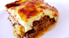 Traditional Greek Moussaka Image