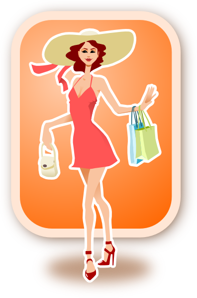Woman Shopping Clip Art at Clker.com - vector clip art ...