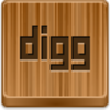 Free Wood Button Digg Image