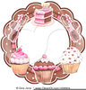 Clipart Of A Tray Of Cupcakes Image