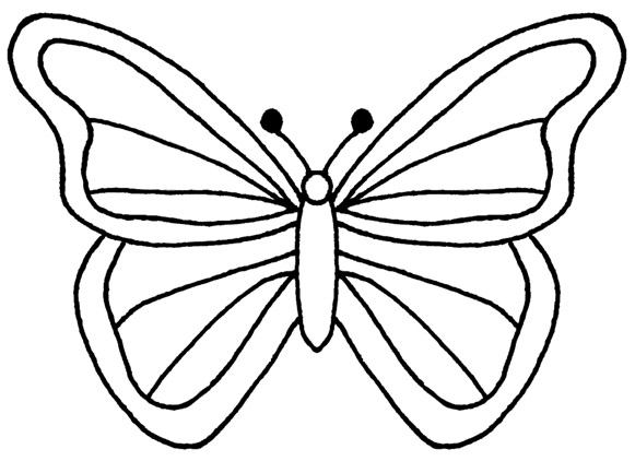 Line Drawing Butterfly : Butterfly free images at clker vector clip art